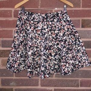 Juniors American Rag Floral Skater Skirt Size Lg